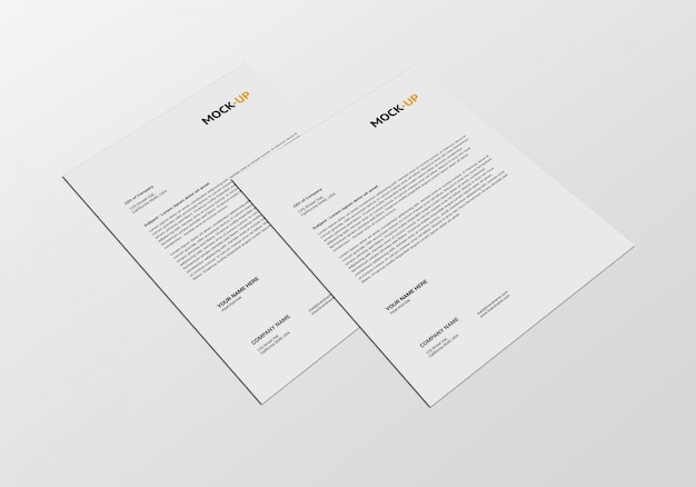 A4 page mock-up