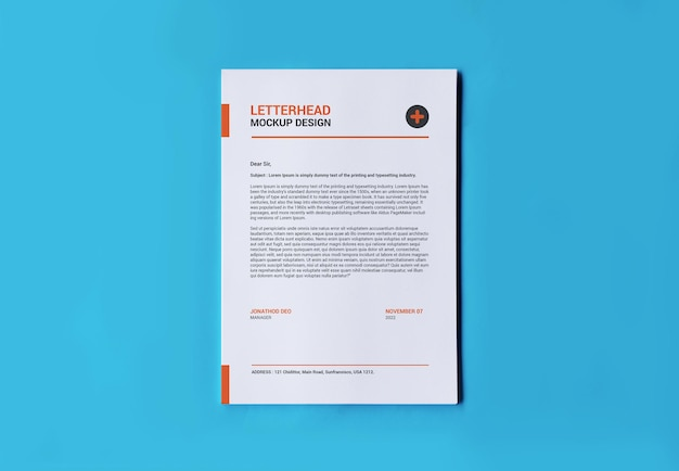 A4 page mockup for flyer invoice letterhead and others