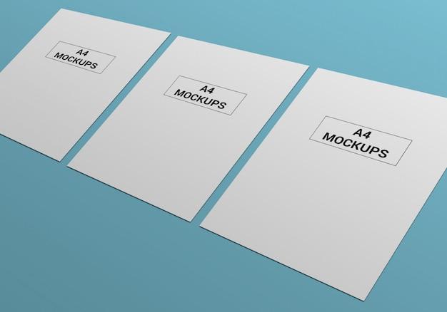A4 page макет для листовки, счета, бланки и другие