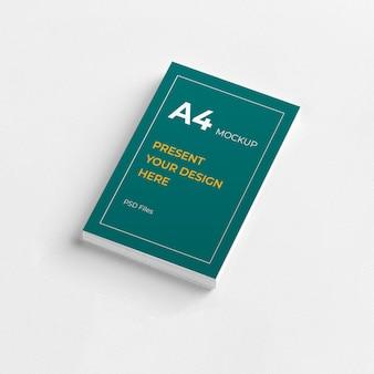 A4紙チラシプレゼンテーションモックアップ