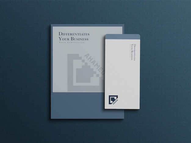 A4 paper minimal and clean branding letterhead mockup