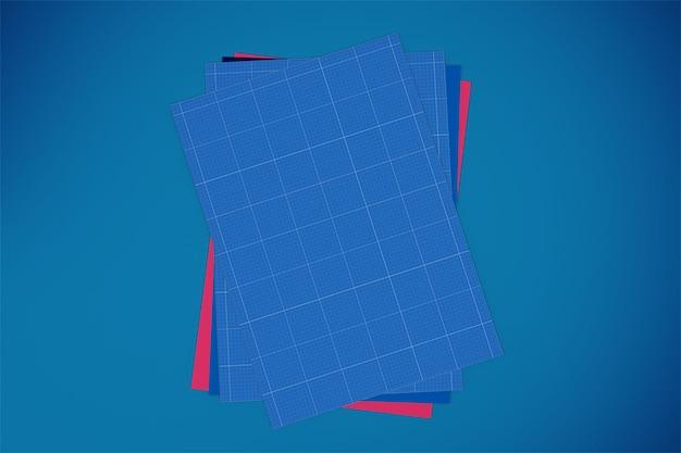 Дизайн мокапа из бумаги формата а4