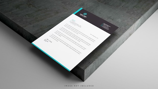 A4 paper poster letterhead flyer poster mockup