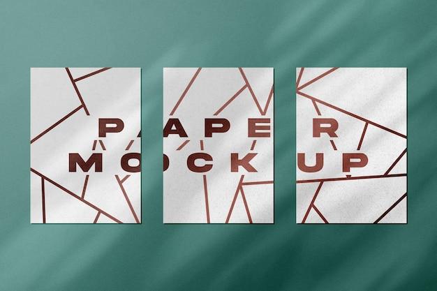 A4 paper set mockup