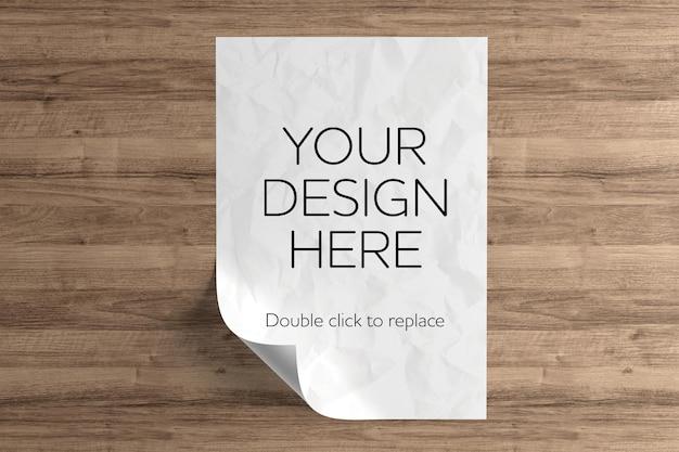 A4 paper sheet mockup design