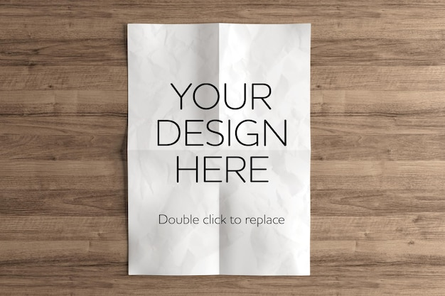 A4 paper sheet mockup rendering