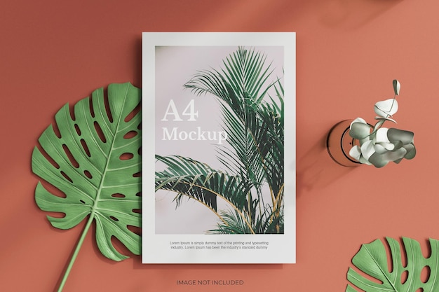 A4 posters flyer or letter head mockup