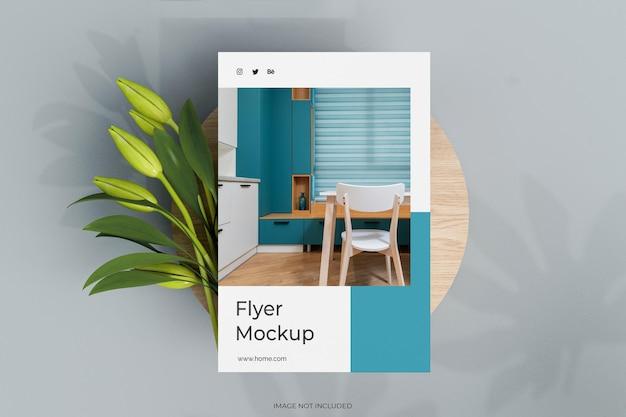 Плакат формата а4 или бланк с макетом цветов