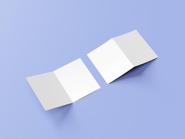 A4プレゼンテーションフォルダまたは2つ折りパンフレットのモックアップ