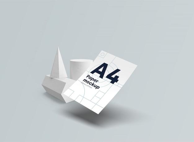 紙a4モックアップ重力psd