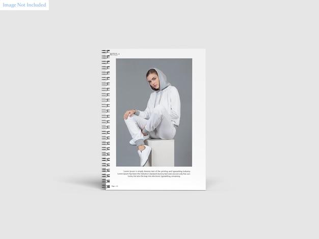 A4 spiral notebook mockup