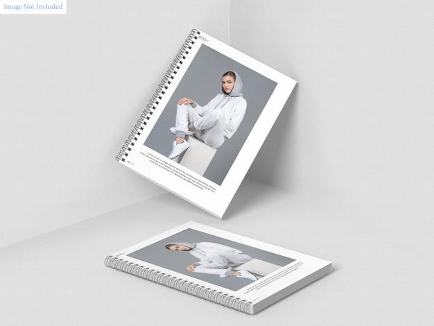 А4 спиральный макет для ноутбука