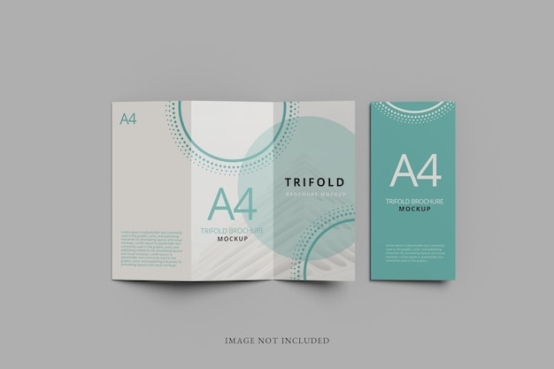 A4 tifold brochure mockup