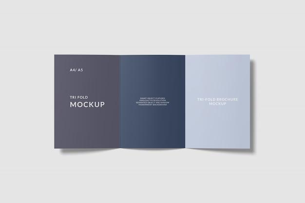 A4 tri fold brochure mockup