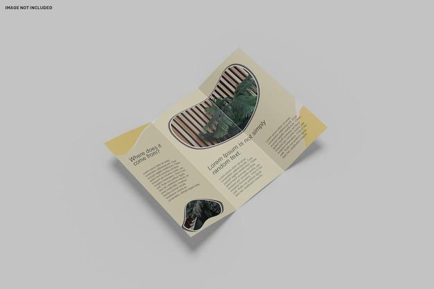Макет брошюры тройного сложения a4