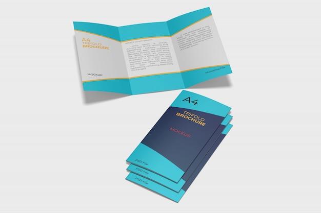 Макет брошюры сложения a4