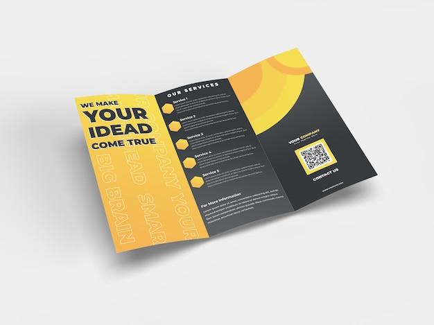 Реалистичный макет брошюры формата а4 для рекламной компании и фирменного стиля Premium Psd