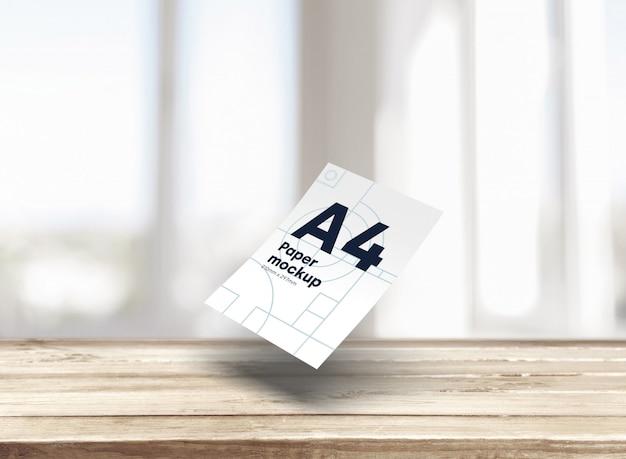 紙a4モックアップ