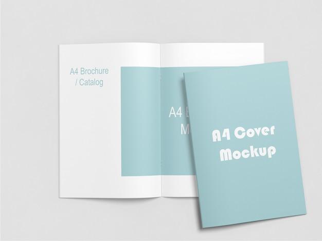 A4パンフレット/カタログモックアップ