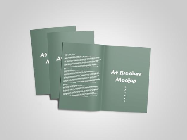 A4パンフレット/カタログのモックアップ