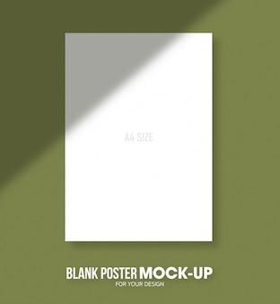 空白のポスターa4サイズのモックアップテンプレート。