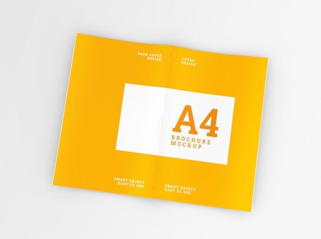 A4パンフレット、小冊子モックアップをカバーします。テンプレート 。