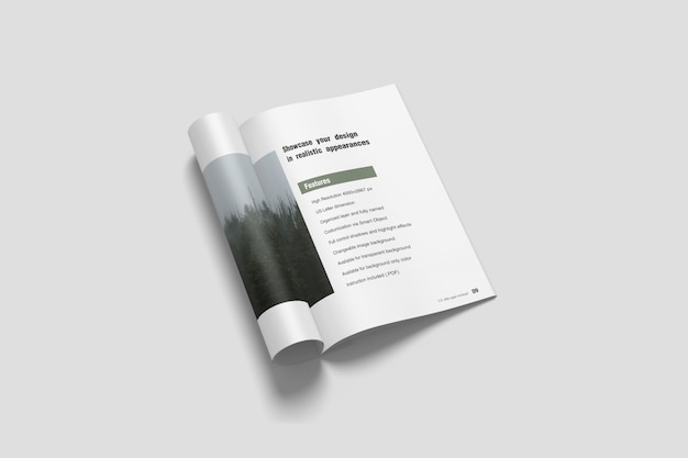 A4パンフレット/雑誌のモックアップ