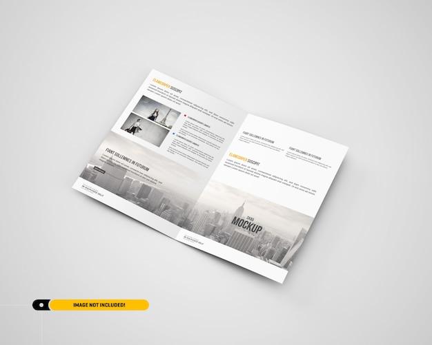 A5 / a5 bifold brochure mockup