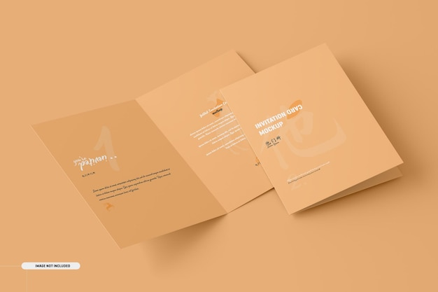 Mockup di carta brochure pieghevole a5 a6