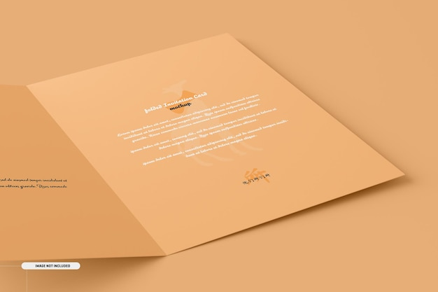A5 a6 folded invitation card mockup