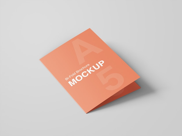 A5 bifold brochure mockup template
