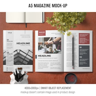 A5 business brochure mockup