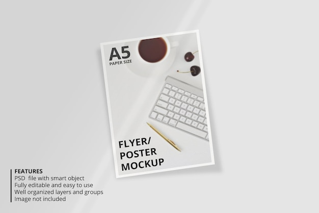 Макет брошюры a5 с наложением теней
