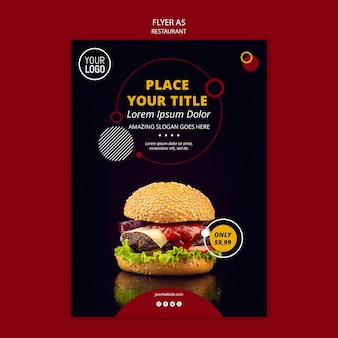 レストランのa5チラシデザイン
