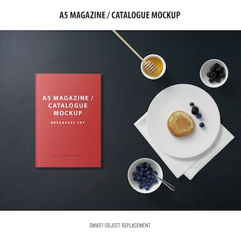 A5 magazine catalog mockup