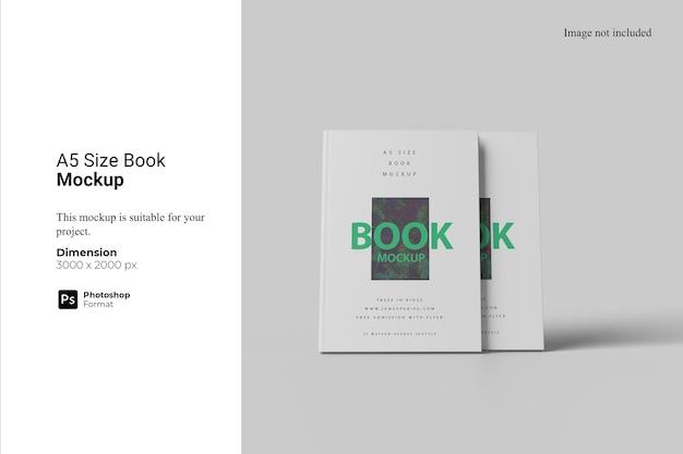 A5 size book mockup design