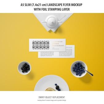 A5 slim landscape flyer mockup