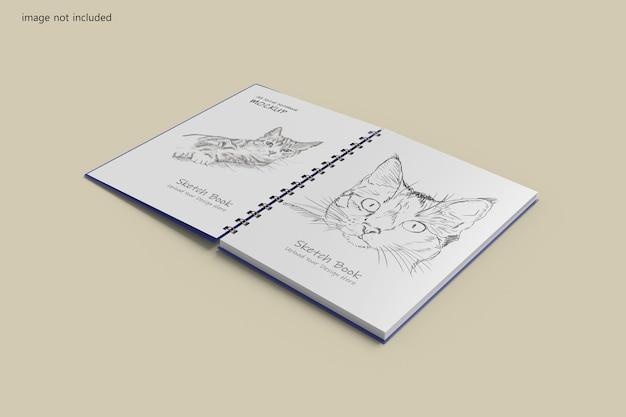 A5 나선형 노트북 목업 디자인