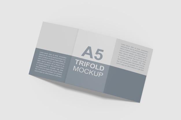A5三つ折りパンフレットパンフレットモックアップ