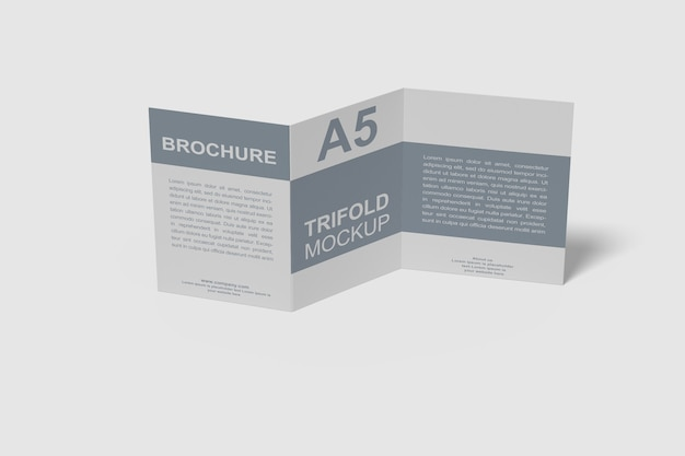 A5 3 단 브로셔 모형