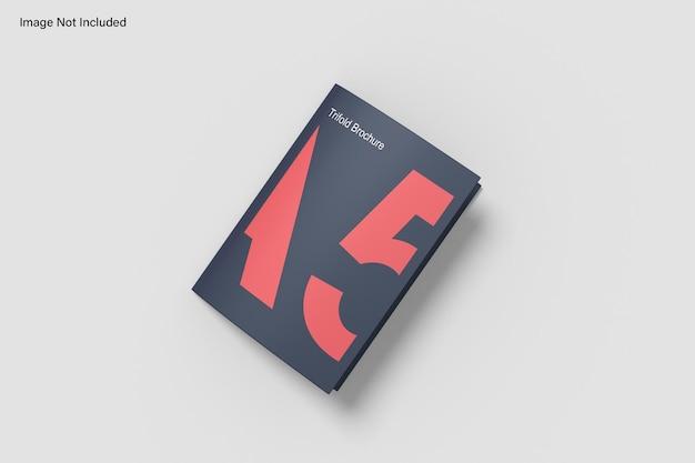 A5三つ折りパンフレットのモックアップ