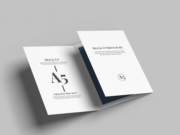A5 trifold брошюра макет