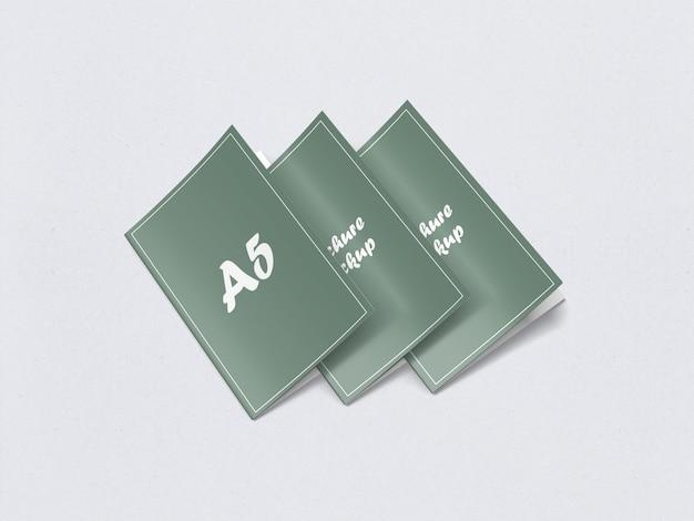 Двойной макет брошюры a5