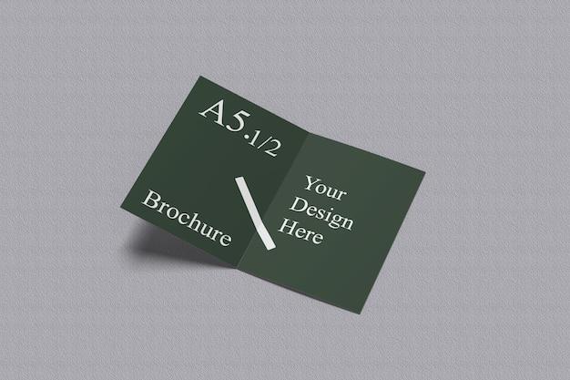 A6a5二つ折りモックアップ