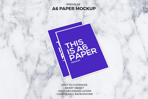 A6 paper mockup