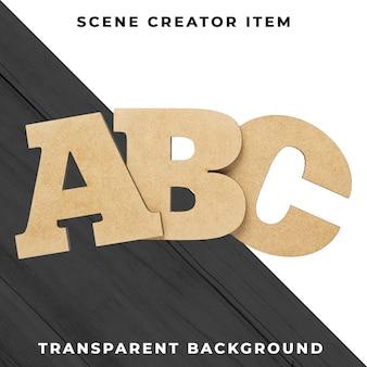 Abc lettere trasparenti psd