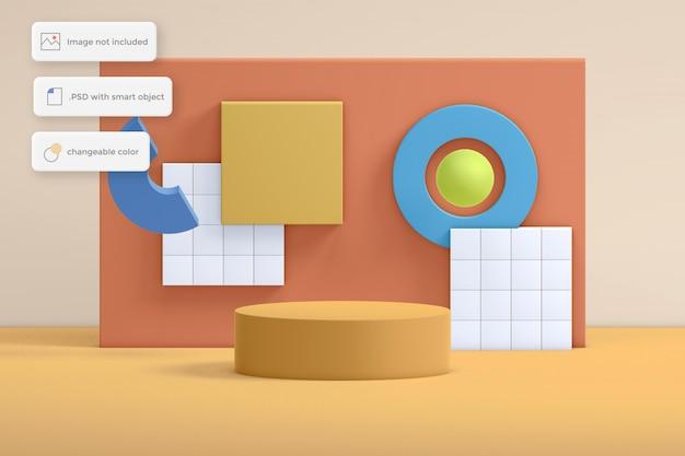 Abstrack geometriの最新の表彰台の製品配置