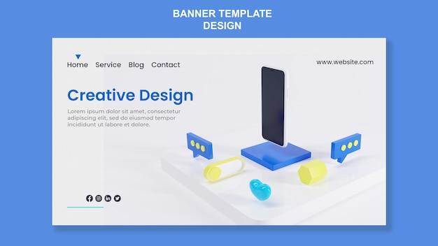 Шаблон целевой страницы abstrack изометрический дизайн