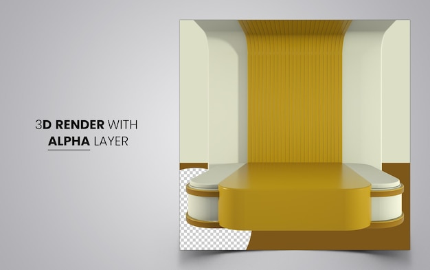 Abstract 3d geometric podium for product placement