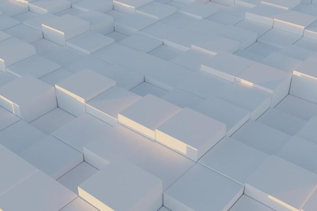 추상 3d 기하학적 사각형 배경
